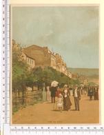 CHROMO LITHO..GRAND FORMAT...H 18  Cm  VILLE CÔTIÈRE DE FRANCE 1900....VUE DE NICE - Vieux Papiers