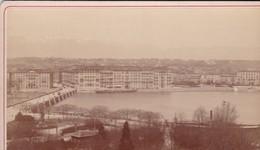 SUISSE / GENEVE / QUAI DU MONT BLANC /   GARCIN PHOTO  / COLLEE SUR CARTON - FIN XIXe DEBUT XXe Siècle / 16 X 10 CM - Anciennes (Av. 1900)