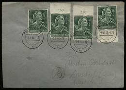 3. Reich - DR 6 Pfg RAD Frauen 2 X Oberrand , MeF Auf Briefumschlag: Gebraucht Dresden - Arusdorf 1944 , Bedarfserhalt - Deutschland