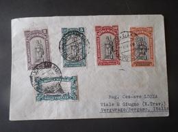 COVER SAN MARINO 1918 PRO COMBATTENTI -- CELEBRAZIONE DELLA VITTORIA ALTO VALORE DI CATALOGO - Saint-Marin