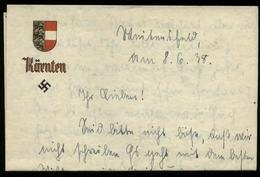 3. Reich : DR Ostmark Briefpapier Kärnten: Gebraucht Kärnten 1938, Bedarfserhaltung. - Allemagne