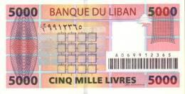 LEBANON P. 85a 5000 L 2004 UNC - Liban