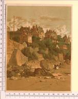 CHROMO LITHO..GRAND FORMAT...H 18  Cm  VILLE CÔTIÈRE DE FRANCE 1900... DINARD - Vieux Papiers