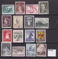 Austria 1960-61 16 Commemorative Values - 1945-.... 2ème République