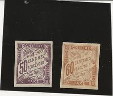 COLONIES FRANCAISE - TAXE N° 23 ET 24 NEUF AVEC GOMME INFIME CHARNIERE - COTE :1884 - COTE : 8 € - Postage Due