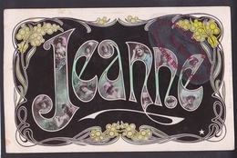 Q0103 - Prénom JEANNE - Carte Fantaisie - Photomontage - Marque étoile - Firstnames