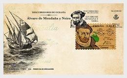 Spain 2018 - Discoverers Of Oceania - Alvaro De Mendaña Y Neira FDC - 1931-Hoy: 2ª República - ... Juan Carlos I