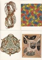 MS Escher Insects Snakes Butterflies 4x Painting Postcard S - Peintures & Tableaux