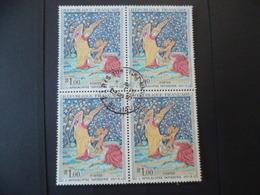 FRANCE TABLEAU N° 1458  BLOC DE 4  OBLITERE - France