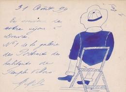ANGLETERRE. DOVER  RARETÉ. POST CARD ANNEE 1899 + CARICATURE DES HABITANTS DE TEMPLE VILLAS ET TEXTE. FORMAT 11.5 X 9 CM - Dover