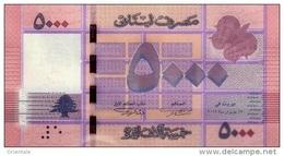 LEBANON P. 91a 5000 L 2012 UNC - Liban