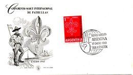 ARGENTINE. N°633 De 1961 Sur Enveloppe 1er Jour. Jamboree International. - Scouting