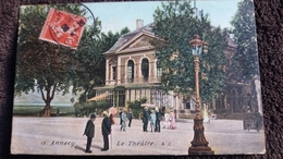 CPA ANNECY 74 LE THEATRE 15 AC ANIMATION 1908 - Annecy