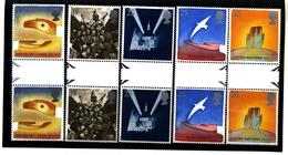 GREAT BRITAIN - 1995  PEACE/EUROPA  GUTTER PAIRS  UNFOLDED  SET   MINT NH - 1952-.... (Elisabetta II)