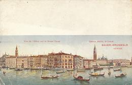 Vue De L'Hotel Sur Le Grand Canal  Grand Hotel D'Italie BAUER-GRUNWALD  VENISE - VENICE - BY RICHTER & CO. - Venezia
