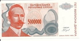 BOSNIE HERZEGOVINE 5 MILLION DINARA 1993 UNC P 153 - Bosnie-Herzegovine