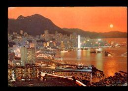 C273 CHINA HONG KONG - DUSCK SCENE AT VICTORIA - Cina (Hong Kong)