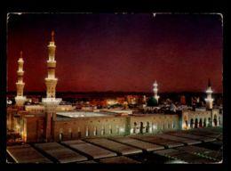 C265 SAUDI ARABIA - GREEN DOM AND PROPHET'S HOLY MOSQUE AT DUSK - Arabia Saudita