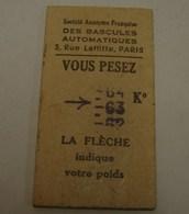 Tic. 16.. Ticket De Pesée De Partis De 1942 - Tickets D'entrée