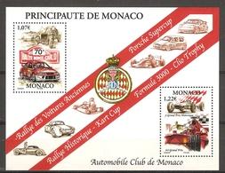 MONACO Bloc 86 70ième Rallye De Monte-Carlo NSC ** - Blocks & Sheetlets