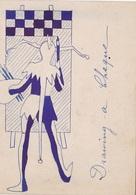 ANGLETERRE. DOVER  RARETÉ. POST CARD ANNEE 1899+ CARICATURE DES HABITANTS DE TEMPLE VILLAS ET TEXTE. FORMAT 11.5 X 9 CM - Dover