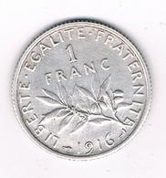 1 FRANC 1916 FRANKRIJK /0223/ - H. 1 Franc