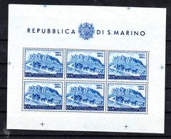 San Marino   -   1950. UPU Foglietto Integro - Nuovi