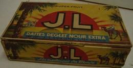 Boite. 22. Ancienne Boite En Bois De Dattes Deglet Nour. J. Lavagne Et Cie à Marseille - Boxes