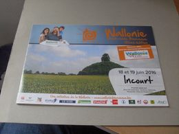 Publicité Wallonie Incourt 2016 - Non Classés