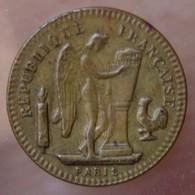 20 Francs Génie 1894 Fourré Laiton - Monetary / Of Necessity