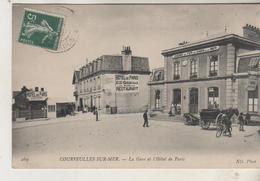 COURSEULLES Sur MER - La Gare Et L'Hotel De Paris - Courseulles-sur-Mer