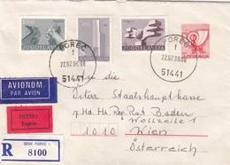 R-EXPRESS-LP-Brief JUGOSLAWIEN 1980 Mit 4 Fach Frankierung - 1945-1992 République Fédérative Populaire De Yougoslavie