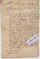 VP14.165 - Haute - Savoie - 2 Actes De 1696  Concernant FAUCIGNY & TANINGES - Manuscrits