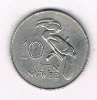 10 NGWEE  1968 ZAMBIA /0231/ - Zambie