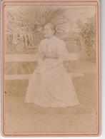 ORAN PEUT ETRE / TRES BELLE PHOTO PROFESSEUR D ECOLE NORMALE / PHOTO COLLEE SUR CARTON - FIN XIXe DEBUT XXe Siècle / - Anciennes (Av. 1900)