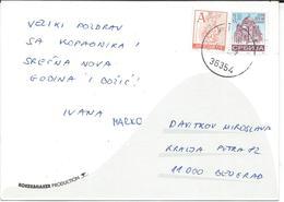 Yugoslavia /Serbia 2002 - MIX STAMPS.Postcard - Motive Skiing Kopaonik - 1992-2003 Federal Republic Of Yugoslavia