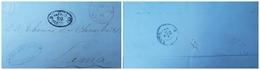 O) 1868 PERU-PREPHILATELIC-PRESTAMP, FROM TACNA - DEFICIT 20 Centavos CANCELLATION, TO LIMA XF - Peru