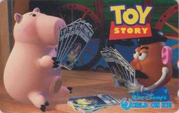 Télécarte NEUVE Japon / 110-016 - DISNEY ON ICE - TOY STORY - Japan MINT Movie Phonecard ** Cochon Pig ** - Disney