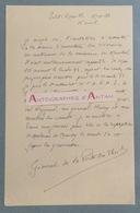 L.A.S Général J. DE LA PORTE DU THEIL Né Mende Lozère Maréchal Pétain Weygand Hering Petite Rosselle Lettre Autographe - Autographes