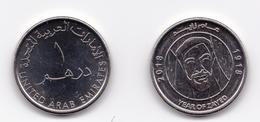 UAE United Arab Emirates 2018 Year Of Zayed Commemorative One Dirham UNC Coins - Emirats Arabes Unis