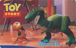 Télécarte  Japon / 110-016 - DISNEY ON ICE - TOY STORY ** Dinosaure Diinsaur Saurier ** - Japan Movie Phonecard - Disney