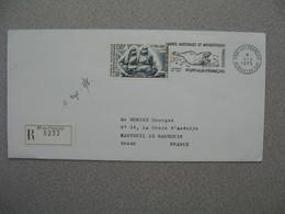 TAAF Lettre Recommandé 8232  Port Aux Français Kerguelen   Pour La France PA 32  Du 4/4/1975 - Posta Aerea