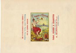1897 Rare Papier étiquette De Paquet De Cigarettes Cigarette Tabac LE TRIOMPHE DE L'EXPOSITION - Autres
