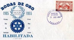 PANAMA - 7 12 1955 FDC ROTARY - Panama