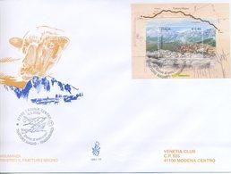 ITALIA - FDC  VENETIA  2004 - LA TRANSUMANZA - BLOCCO FOGLIETTO - ANNULLO SPECIALE - F.D.C.