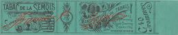 1897 Rare Papier étiquette Cigarette Tabac De La Semois - Cigarettes - Accessoires