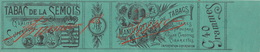 1897 Rare Papier étiquette Cigarette Tabac De La Semois - Sigarette - Accessori