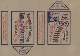 1897 Rare Papier étiquette De Paquet De Cigarettes Cigarette LE SPAHIS - Autres