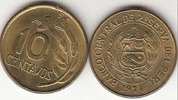 Perù 10 Centavos 1974 Republic Decimal KM#245.3 - Used - Perú
