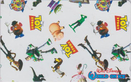 Télécarte  Japon / 110-016 - DISNEY ON ICE - TOY STORY ONE PUNCH * Chien Teckel Cochon Dog Pig *  Japan Movie Phonecard - Disney